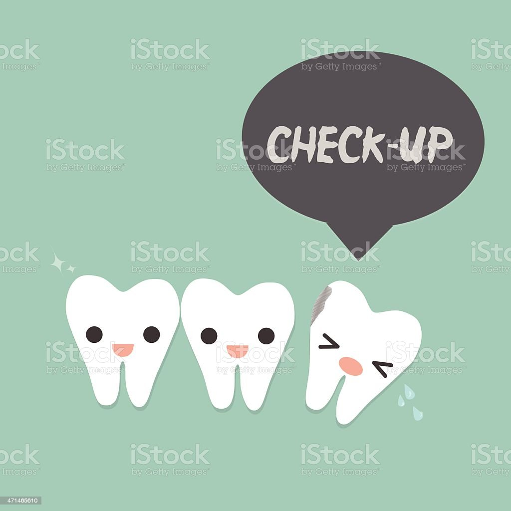 decayed tooth vector art illustration