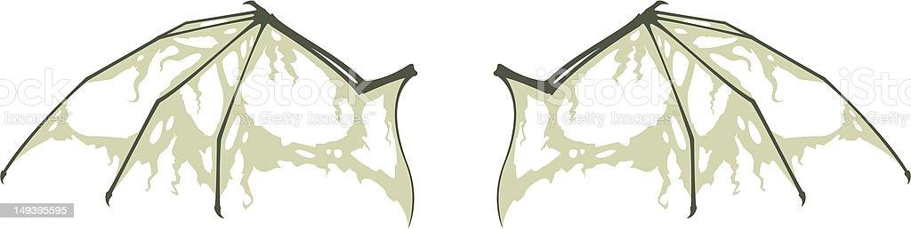 Decaying Bat Wings royalty-free stock vector art