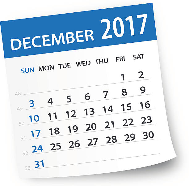 December Calendar Art : December clip art vector images illustrations istock