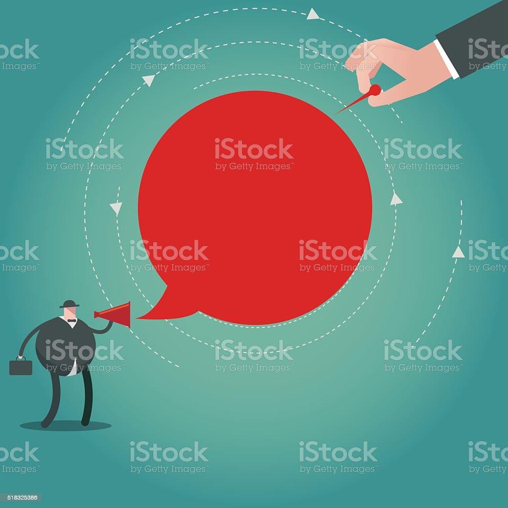 deception vector art illustration