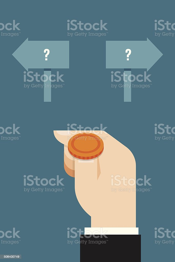 decision vector art illustration
