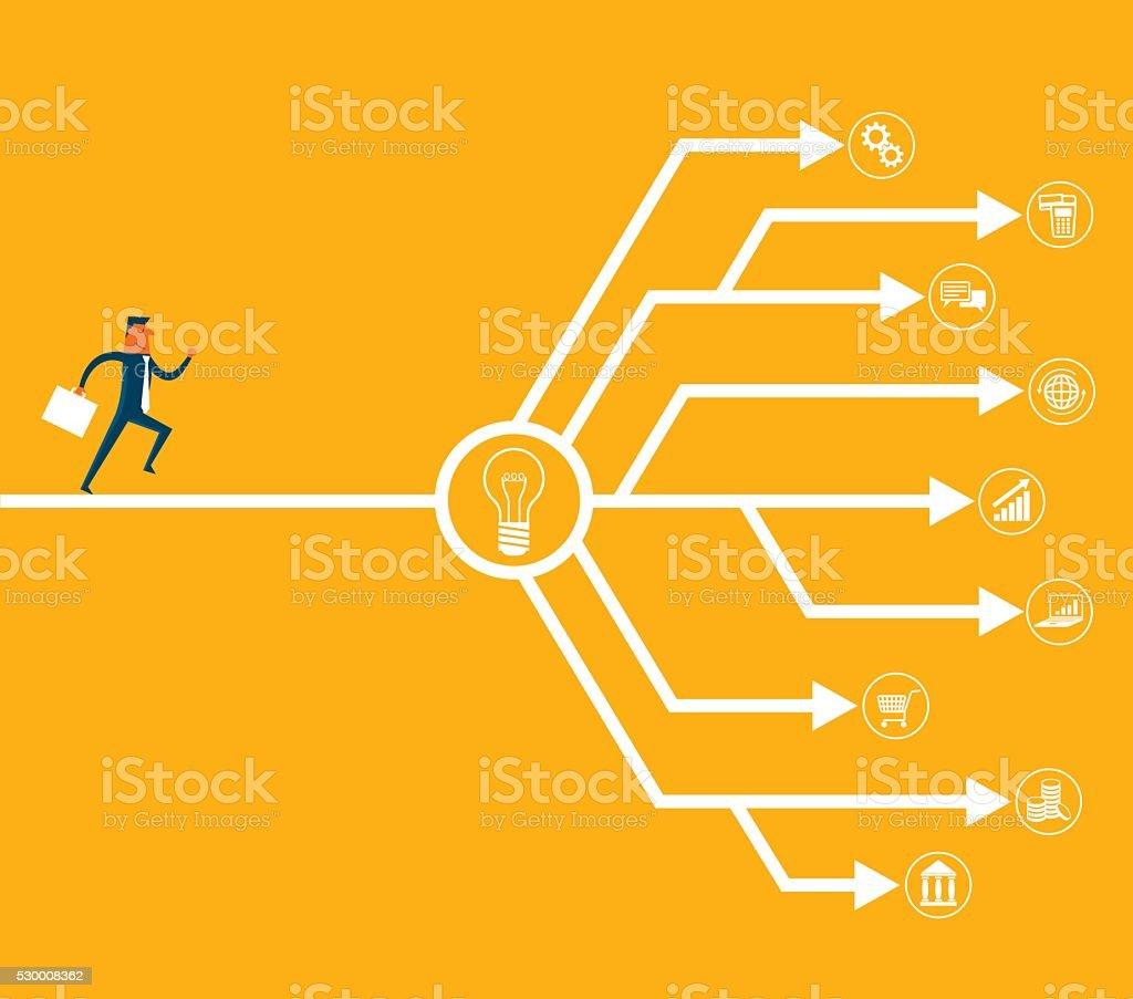Decision vector art illustration