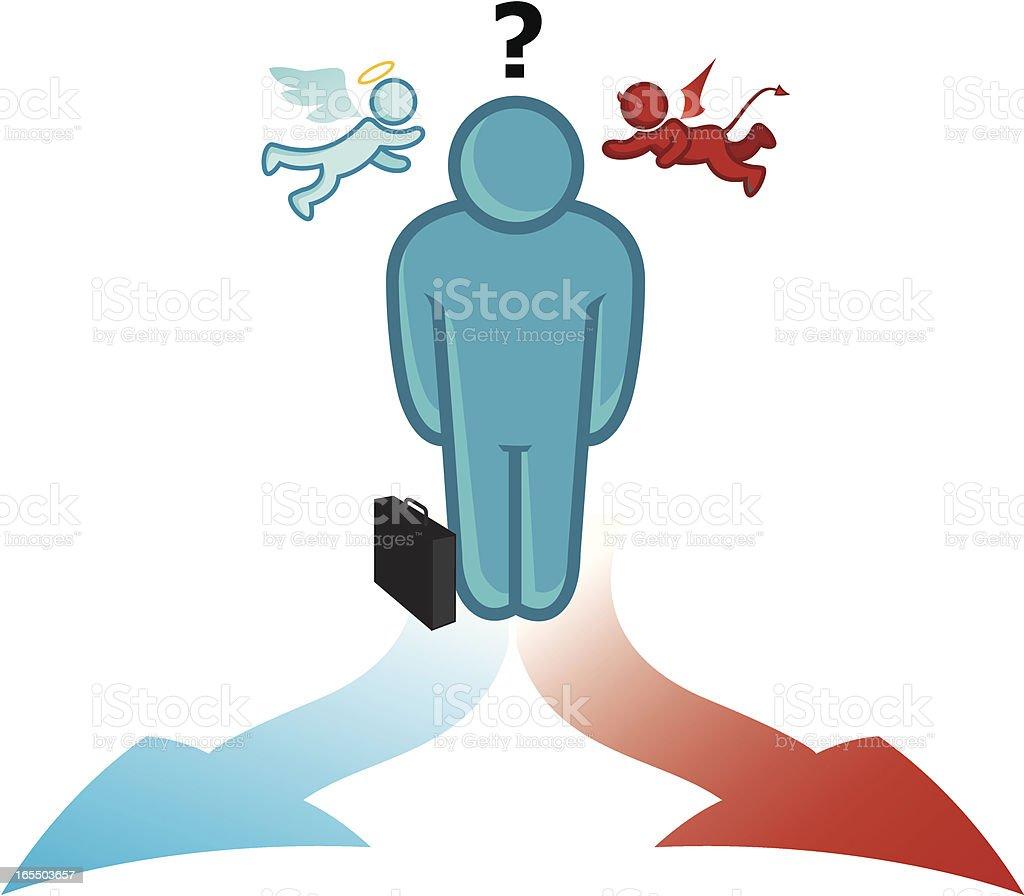 decisions vector art illustration
