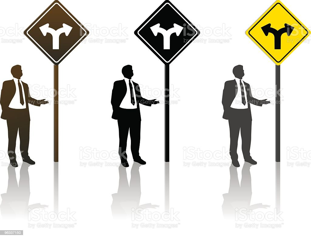Decisions ~ Vector royalty-free stock vector art