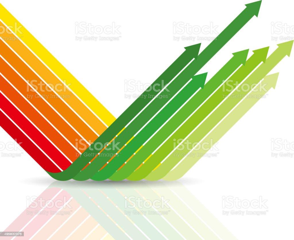 decline change to growth vector art illustration