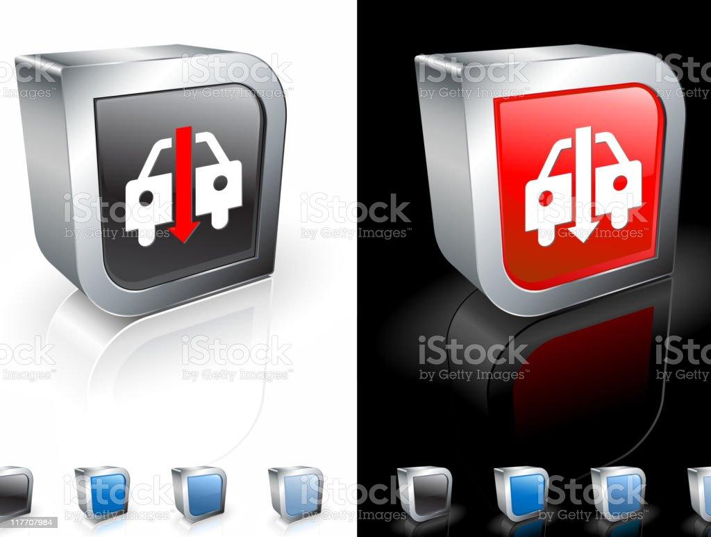 declining auto sales 3D royalty free vector art royalty-free stock vector art