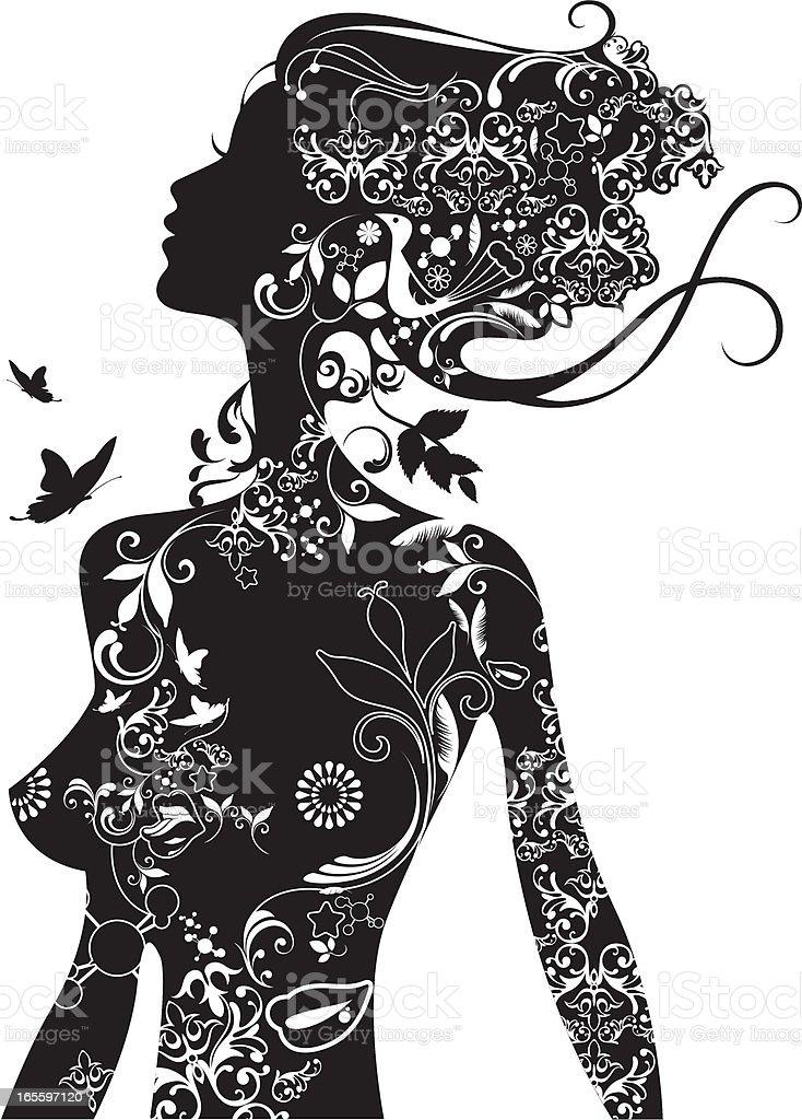 Deco beauty. vector art illustration