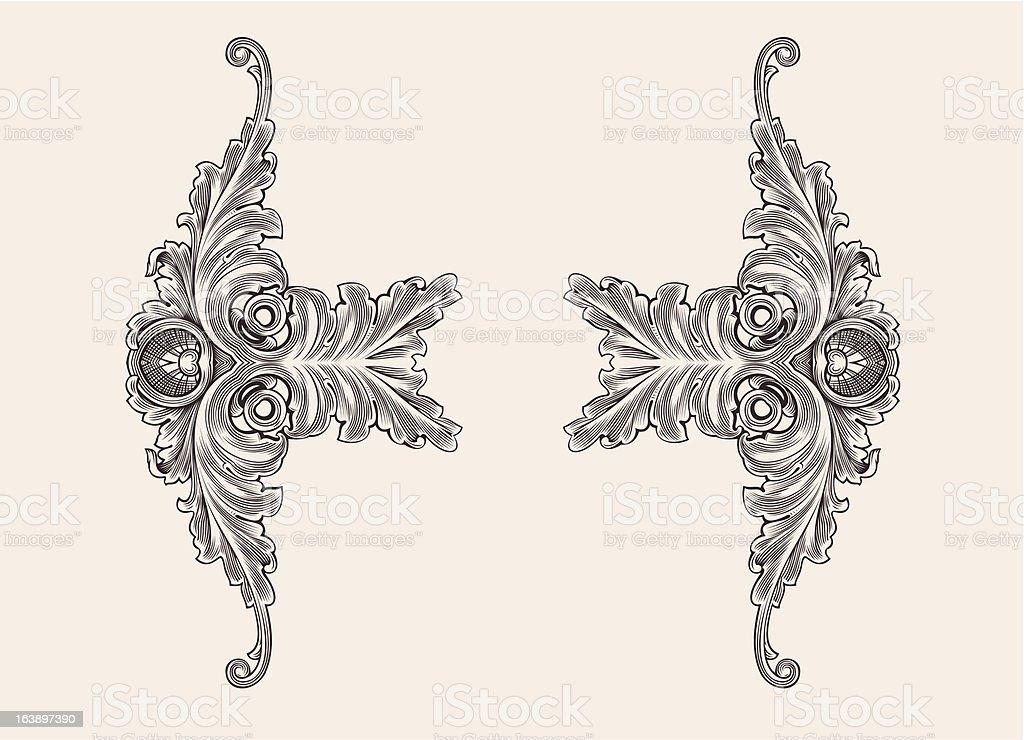 Decor Elements Floral Ornament royalty-free stock vector art
