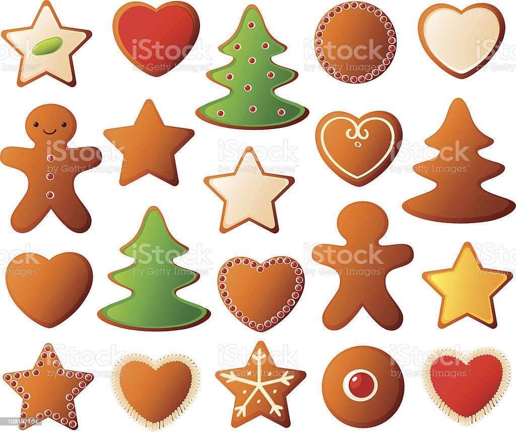 Decorated christmas cookies royalty-free stock vector art
