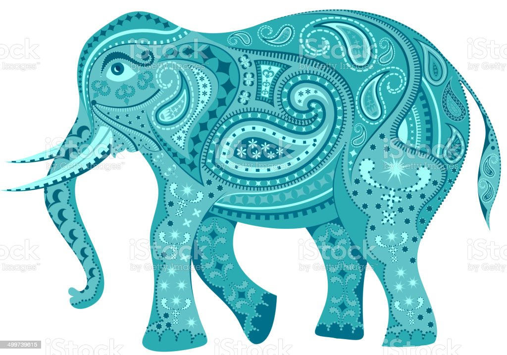 Decorated Elephant royalty-free stock vector art