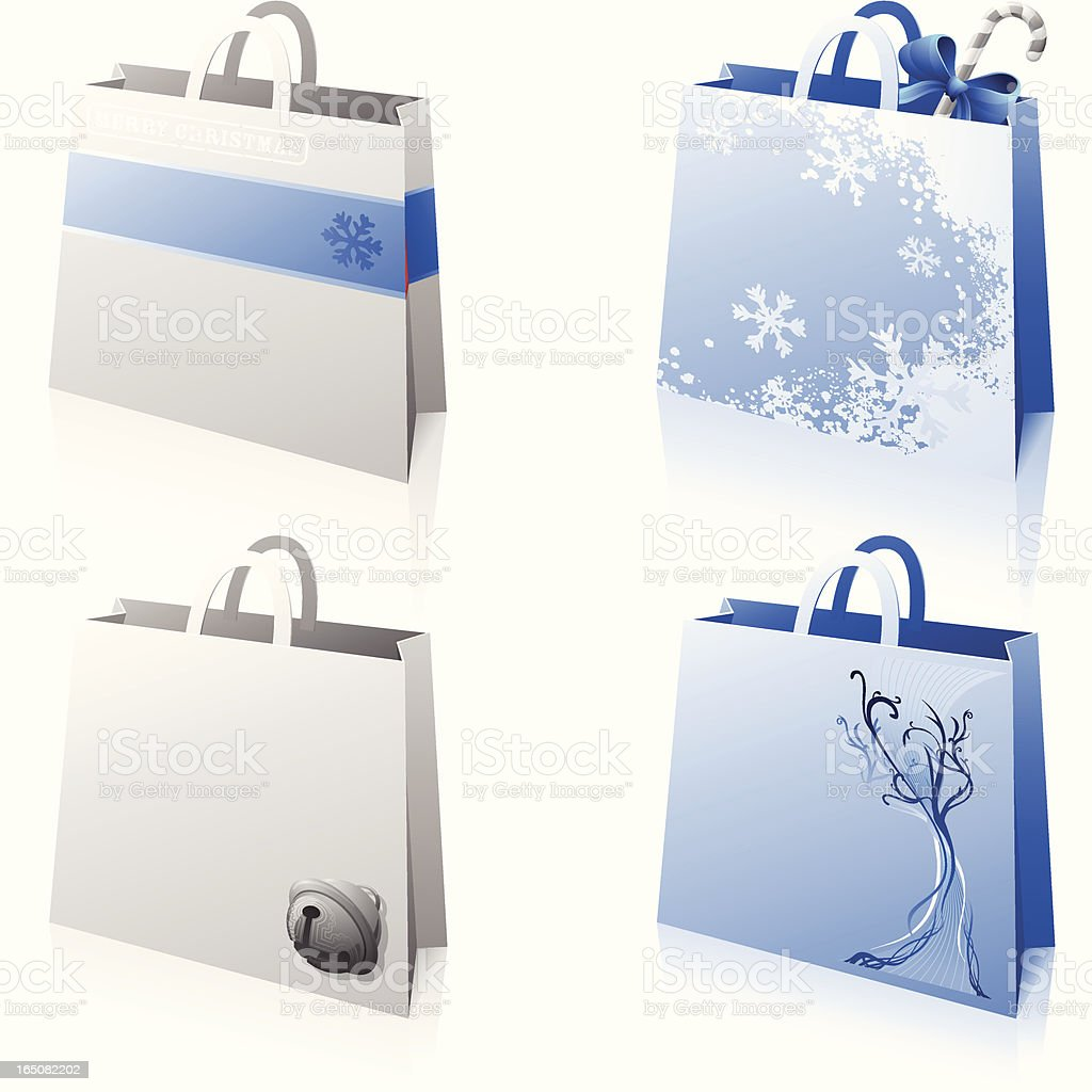 Decorated Shopping Bags royalty-free stock vector art