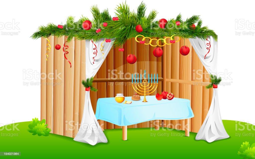 Decorated Sukkah royalty-free stock vector art