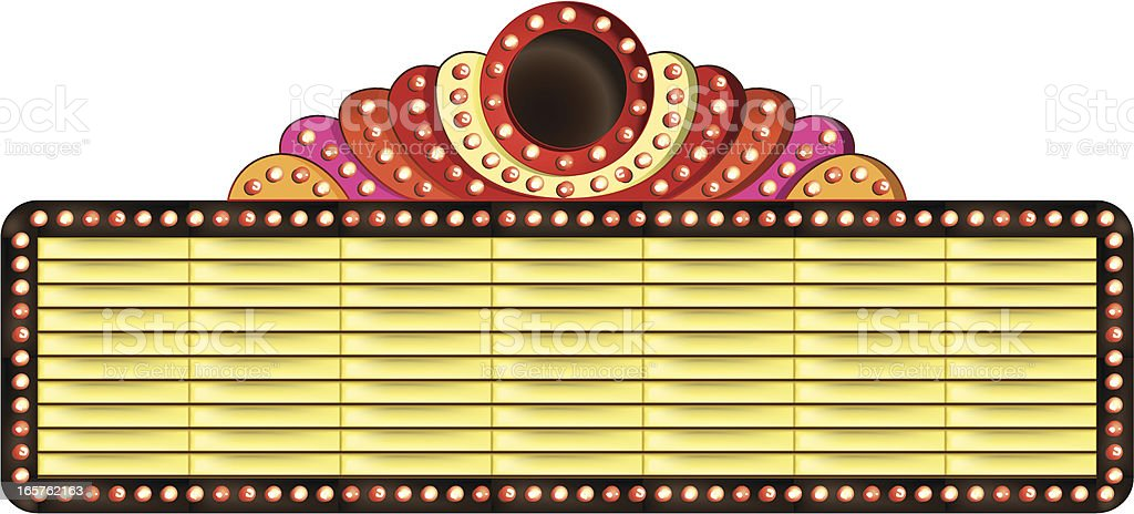 decorated theatre billboard royalty-free stock vector art