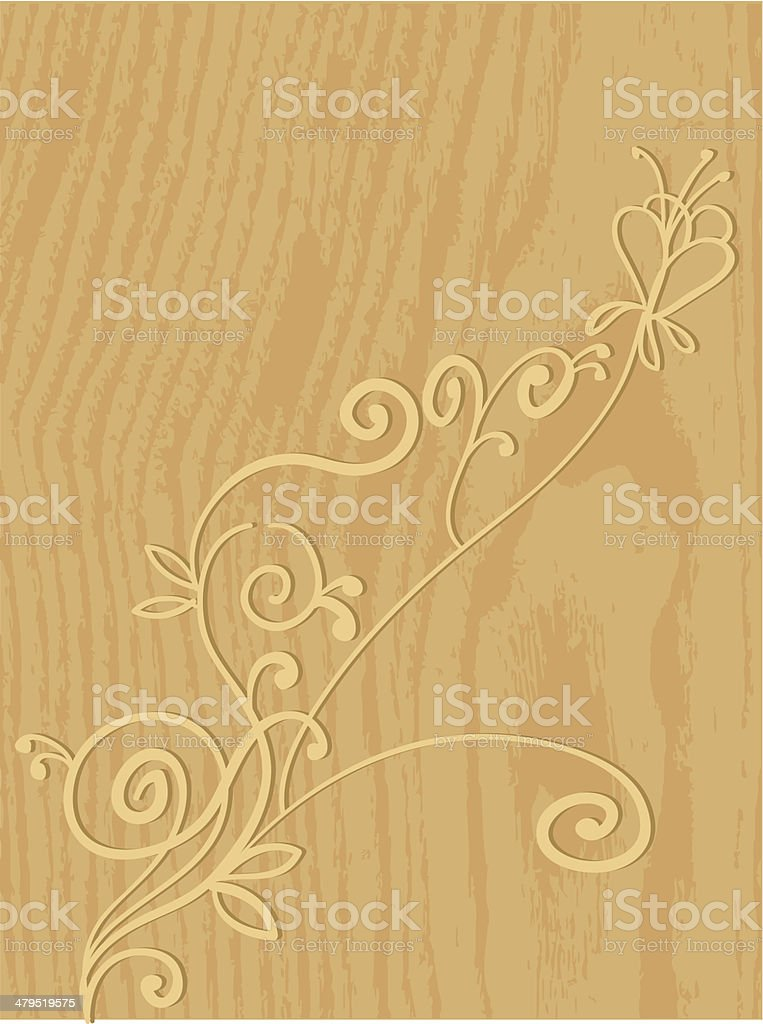 Decorated wood royalty-free stock vector art