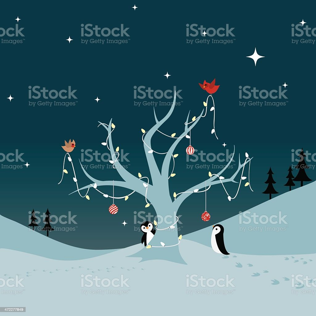 Decorating the Tree! vector art illustration
