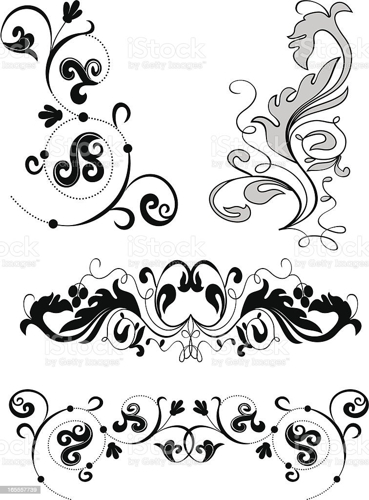 decoration elements royalty-free stock vector art