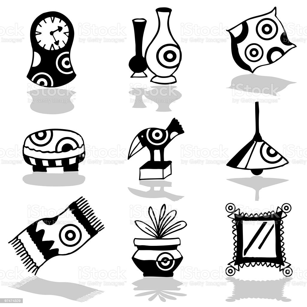 Decoration icon set royalty-free stock vector art