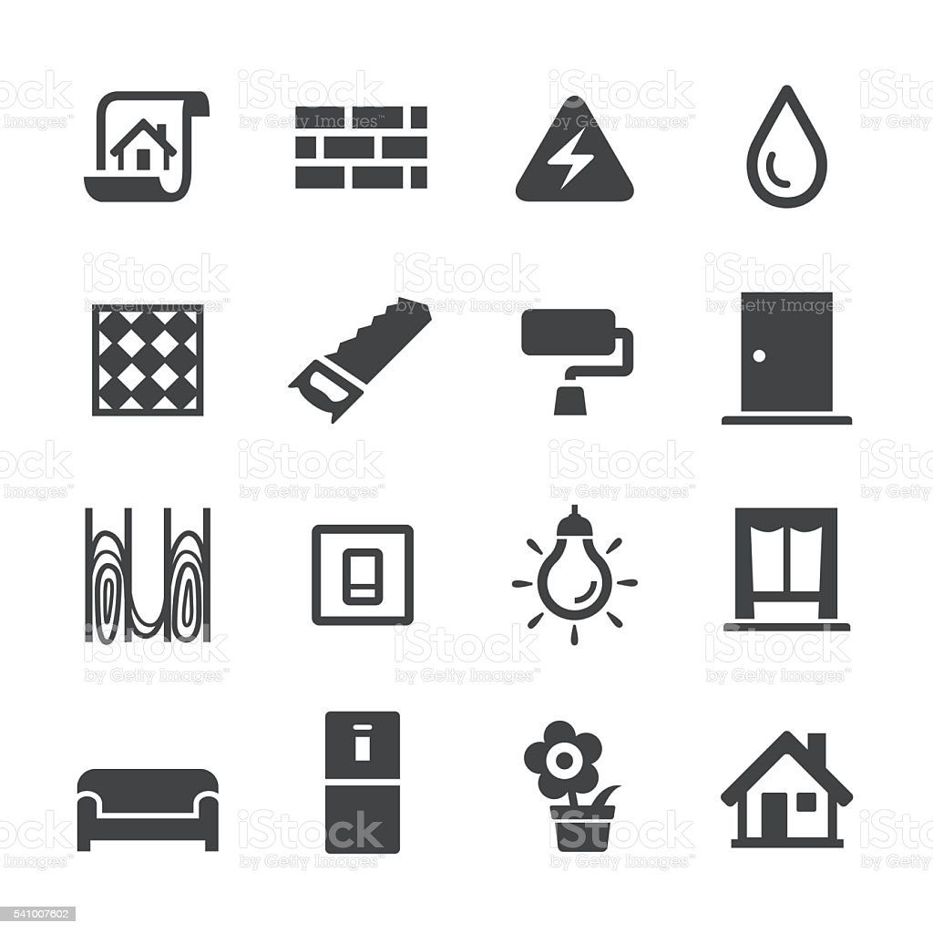 Decoration Workflow Icons - Acme Series vector art illustration