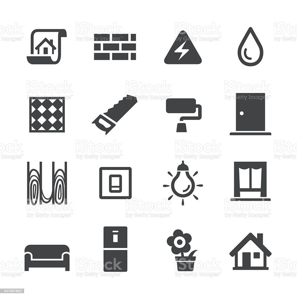 Decoration Workflow Icons - Acme Series vector art illustration