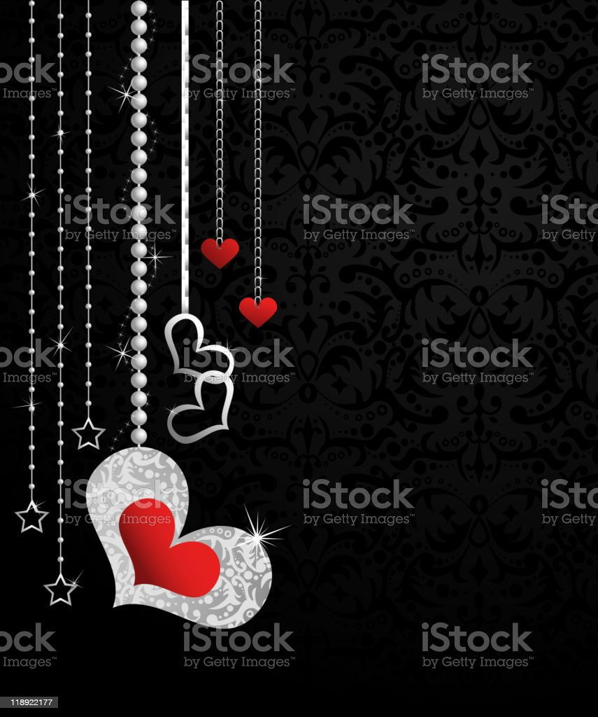 Decorations for Valentine's Day royalty-free stock vector art