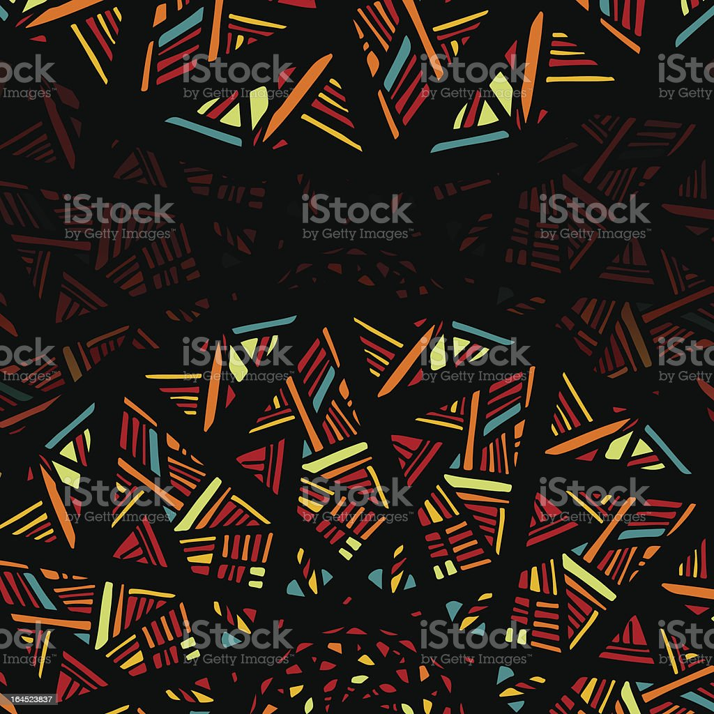 Decorative abstract background with stylized stained glass window vector art illustration