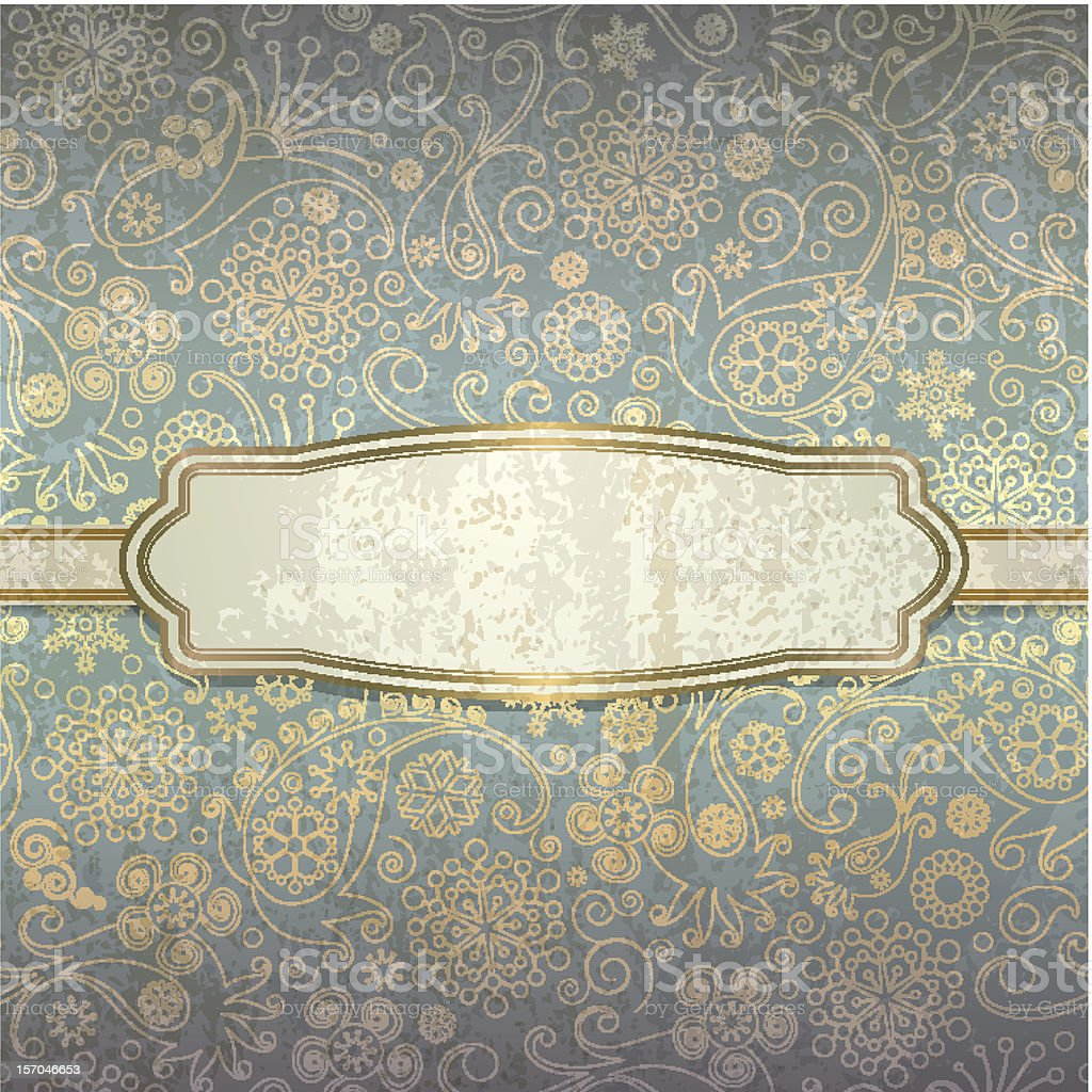 Decorative background in a retro style with golden pattern stock photo