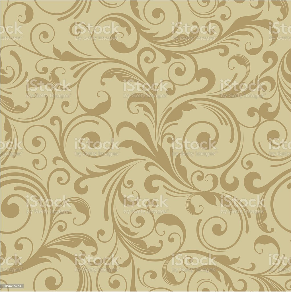 A decorative background of a damask pattern vector art illustration