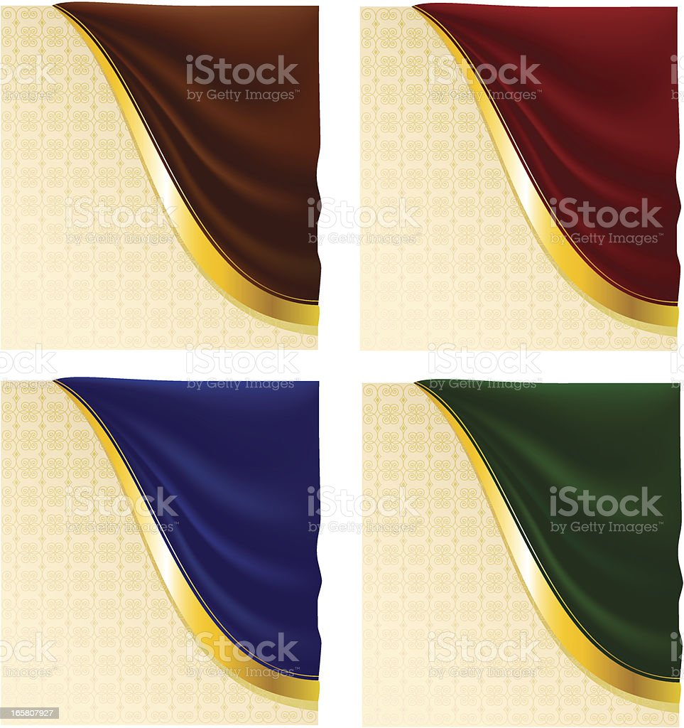 Decorative background with drapery royalty-free stock vector art