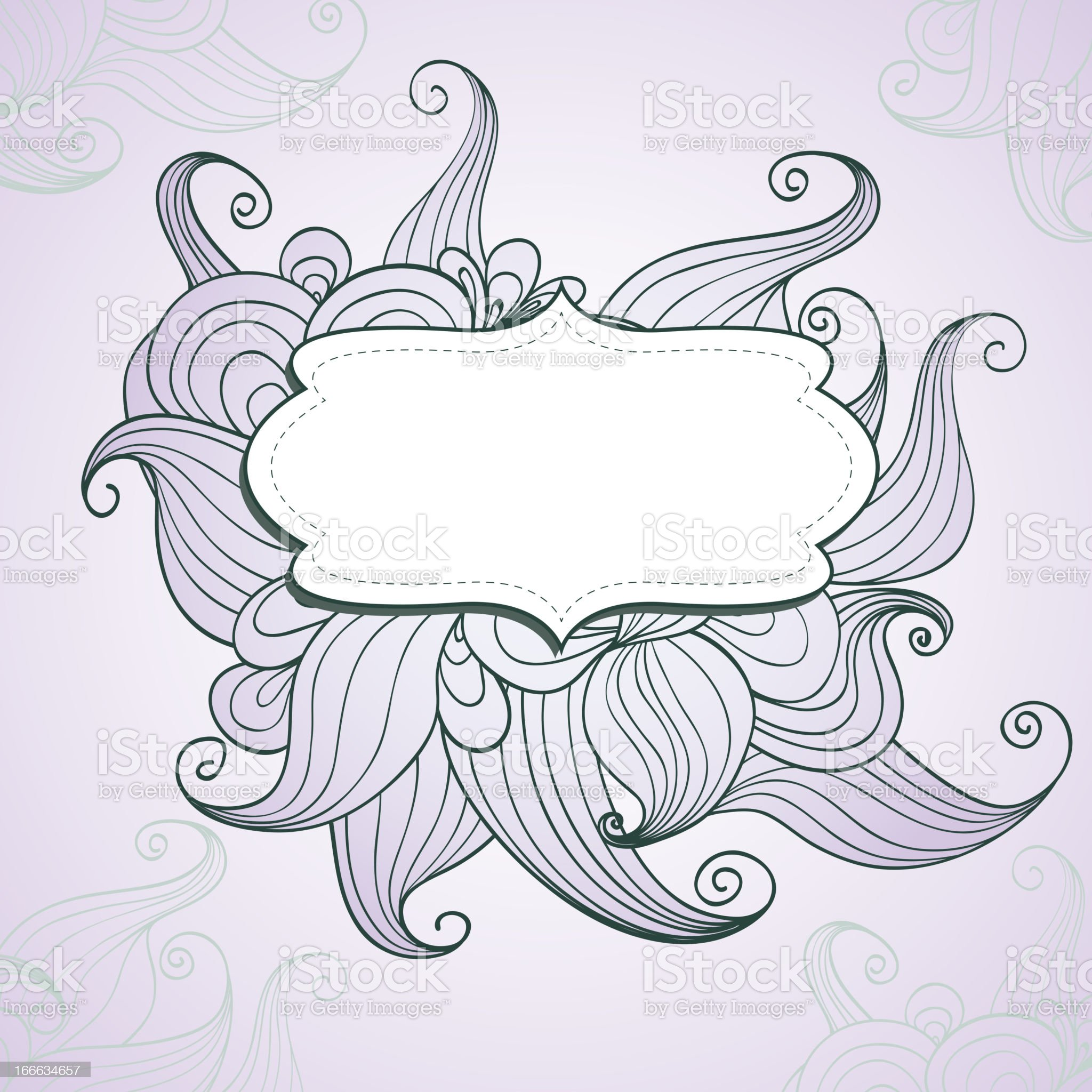 Decorative background with hand drawn waves royalty-free stock vector art