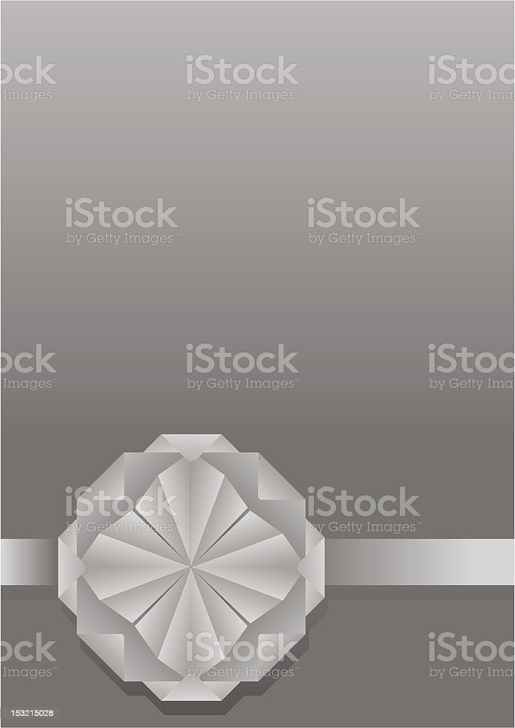 Decorative background with  paper flower royalty-free stock vector art