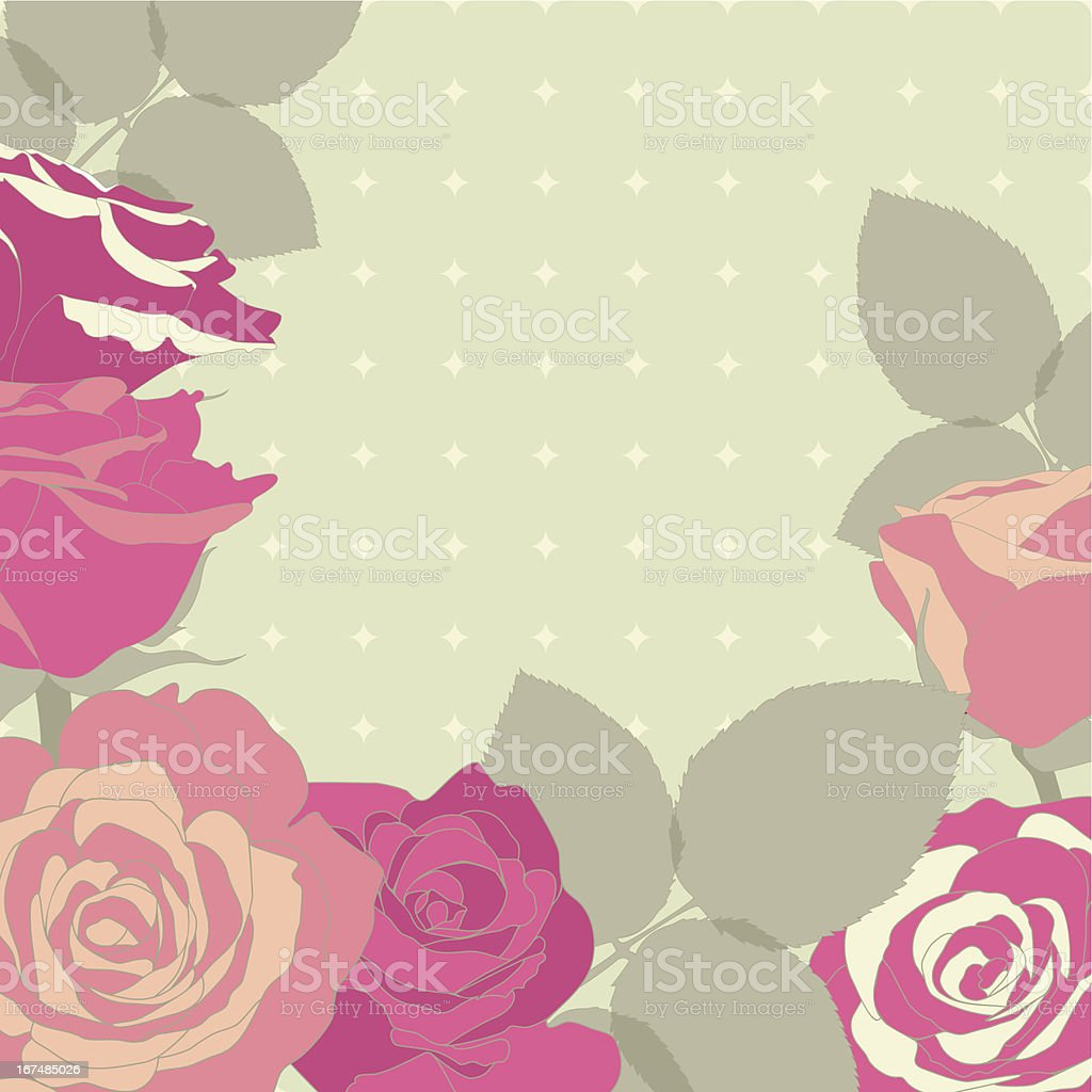 Decorative background with roses flowers. Vector illustration. royalty-free stock vector art