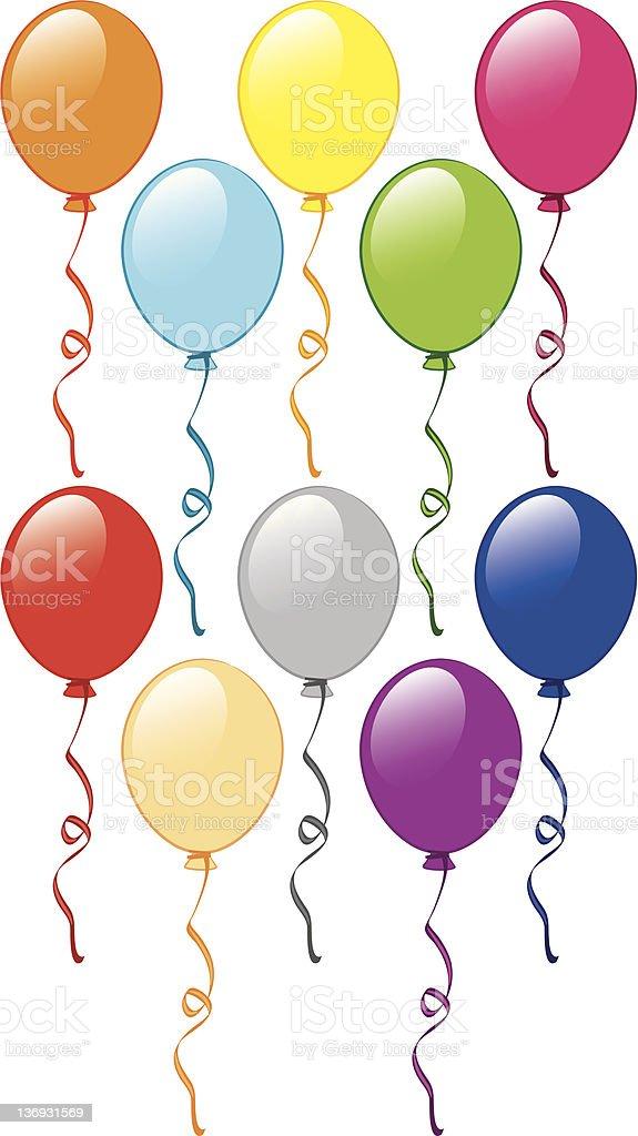 decorative balloons royalty-free stock vector art