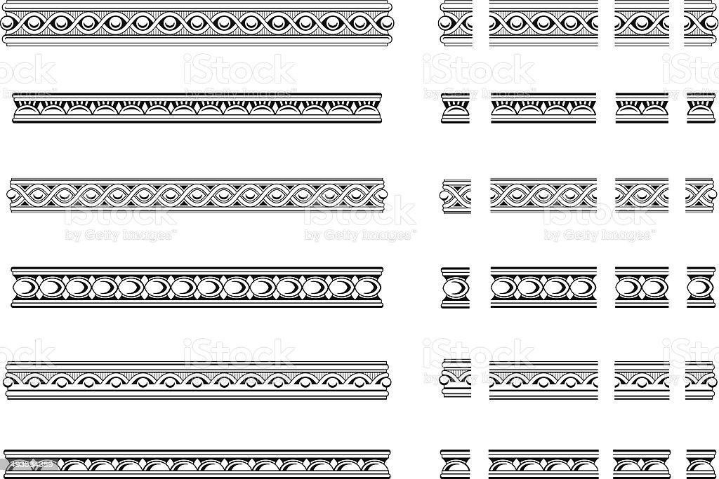 Decorative bands vector art illustration