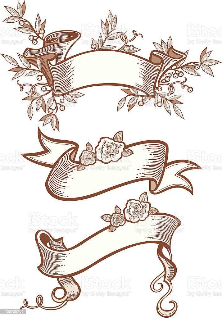 decorative banners royalty-free stock vector art