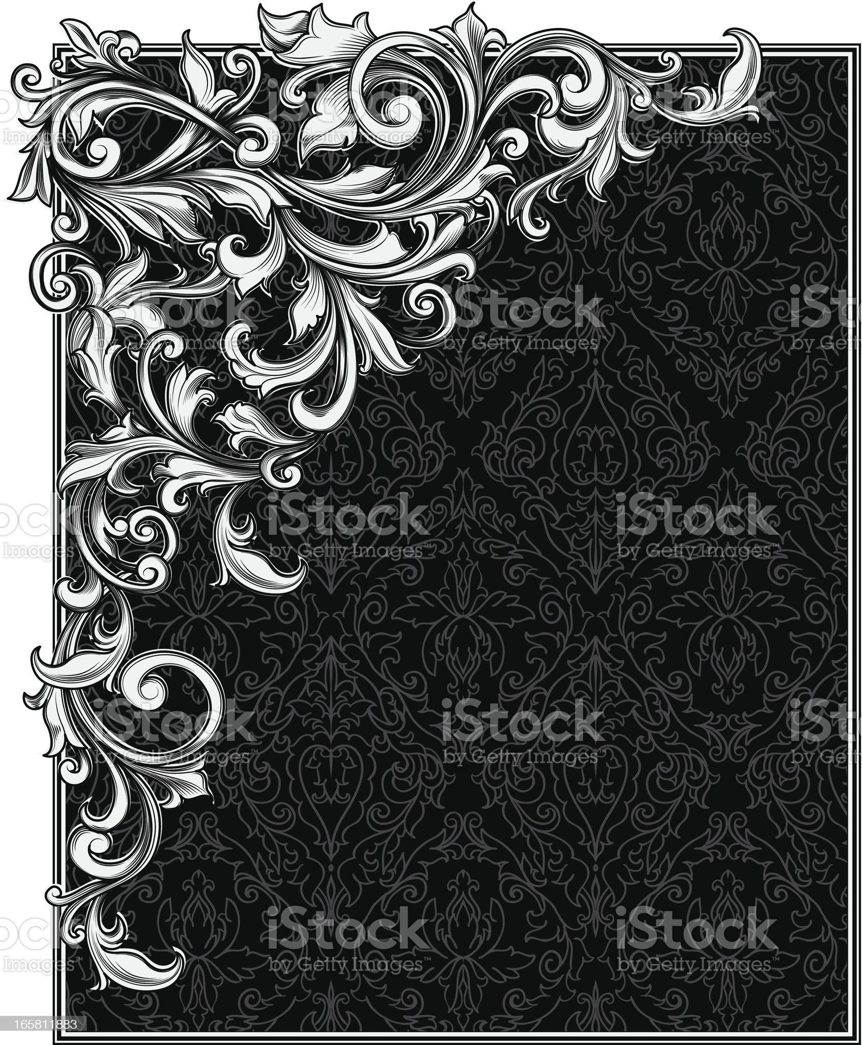 Decorative blank & corner royalty-free stock vector art