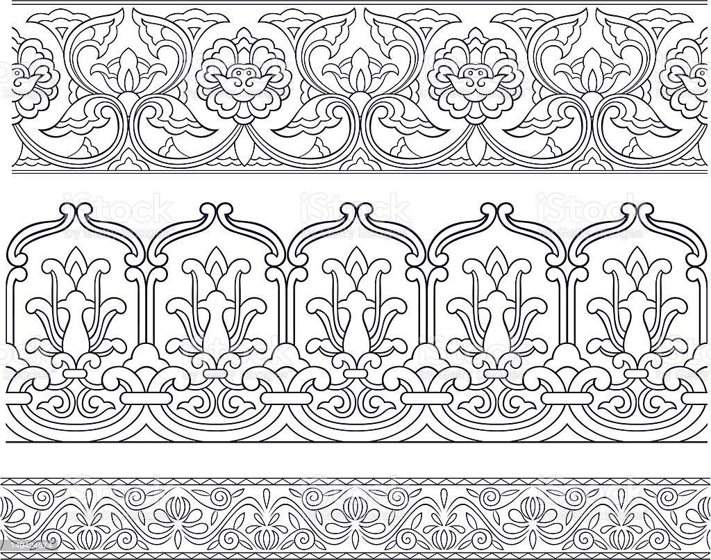 Bordo decorativo di design illustrazione royalty-free