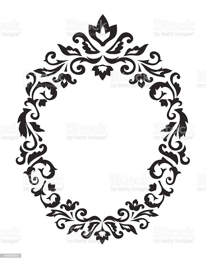 Decorative border ornament vector art illustration