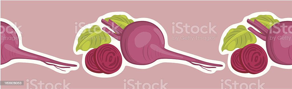 Decorative border with beets royalty-free stock vector art