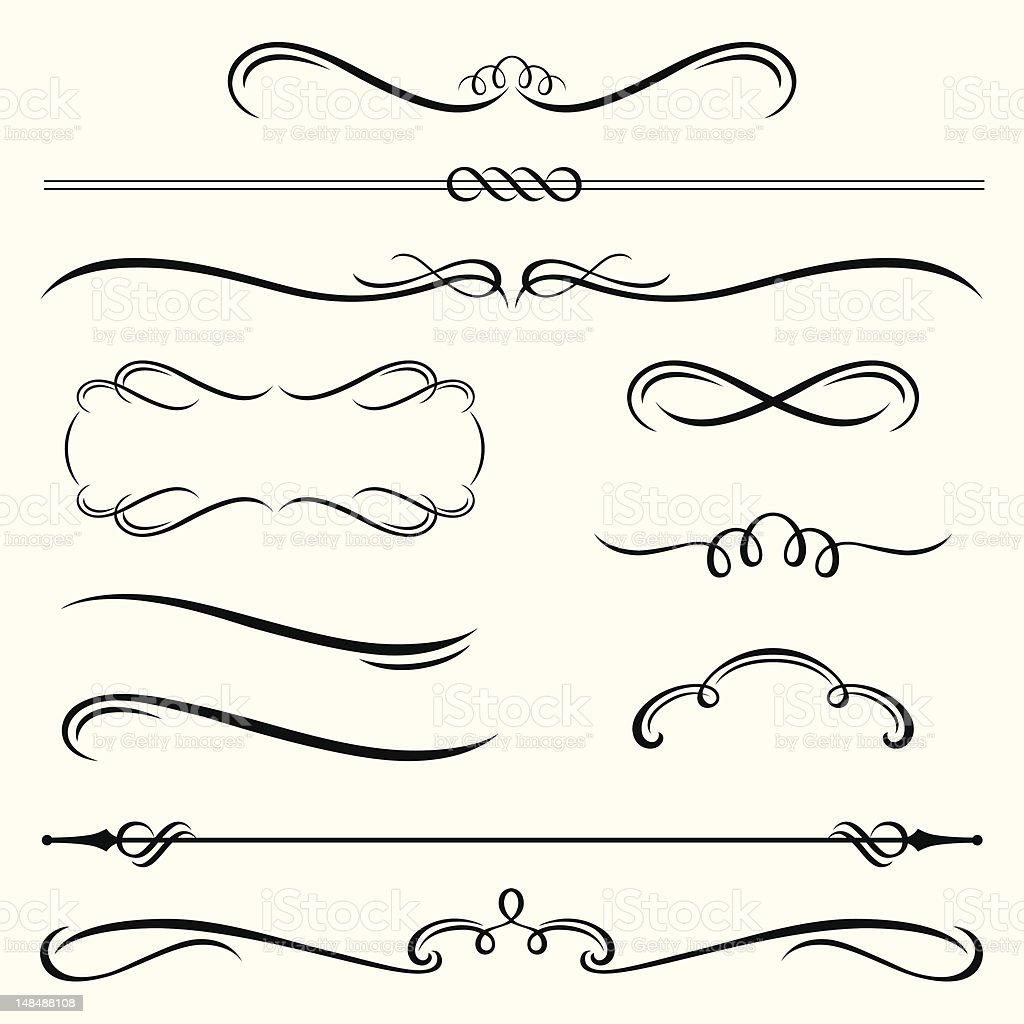Decorative Borders and Frames vector art illustration