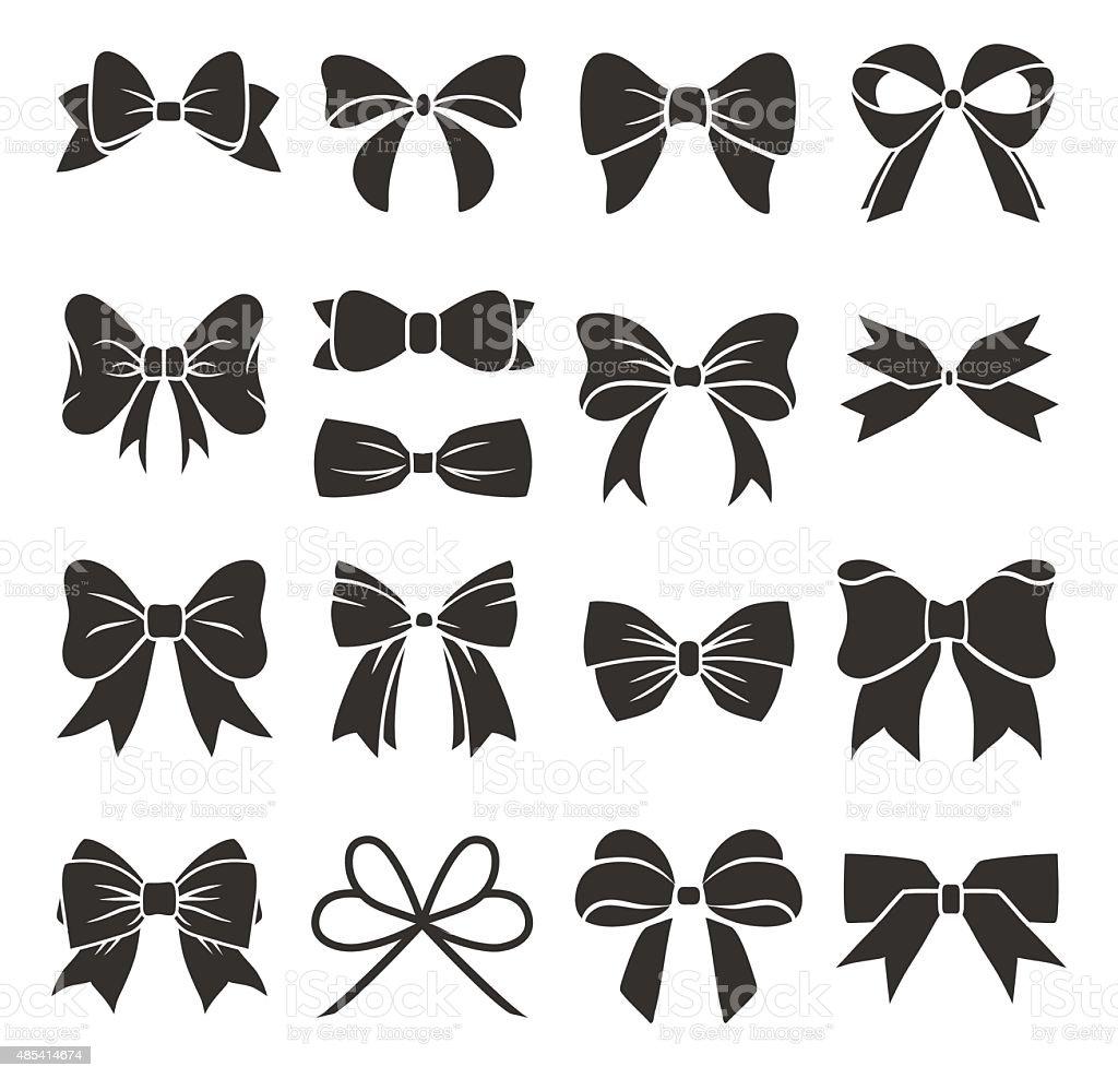 Decorative bows vector art illustration