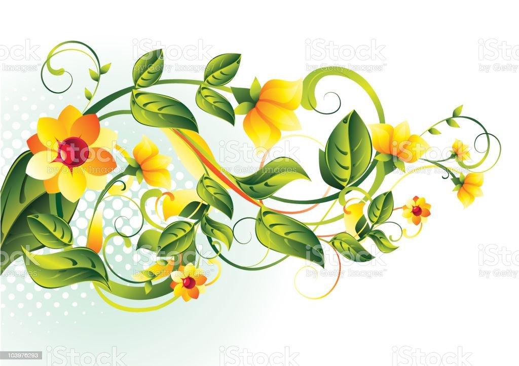 Decorative branch royalty-free stock vector art