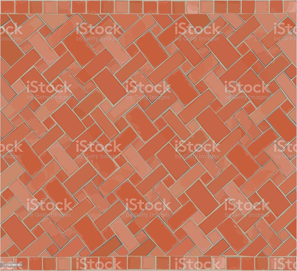 Decorative Brick Pattern Background royalty-free stock vector art