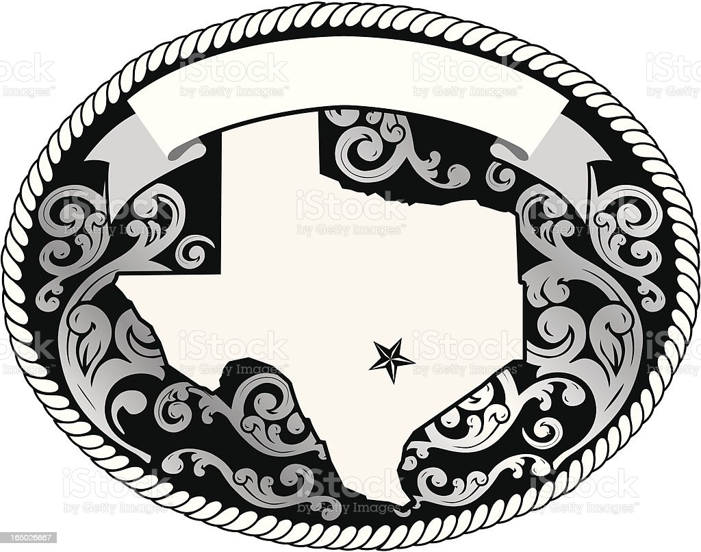 Decorative Buckle royalty-free stock vector art