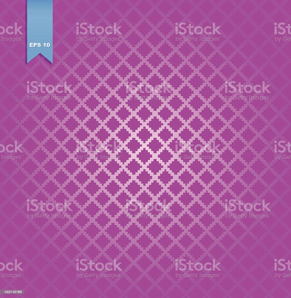 Decorative checkered rose pattern vector art illustration