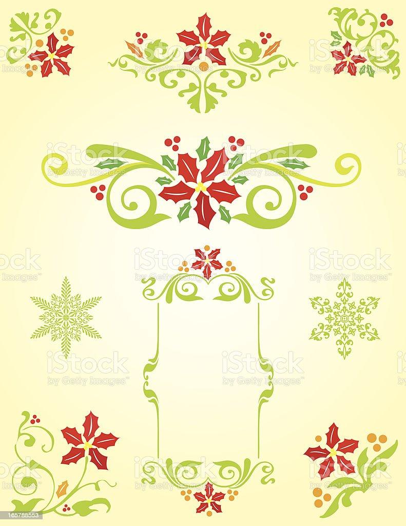 Decorative Christmas elements royalty-free stock vector art