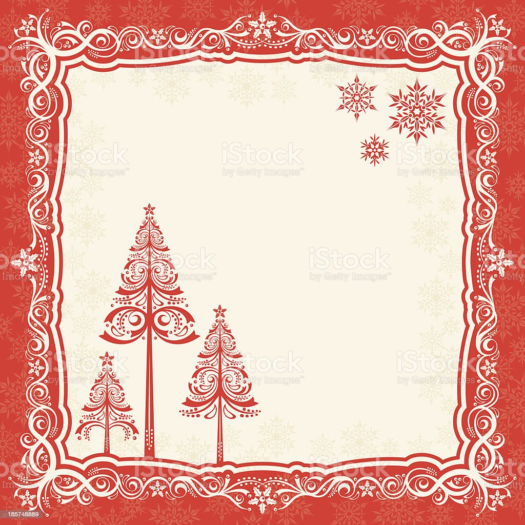 Decorative Christmas Frame royalty-free stock vector art