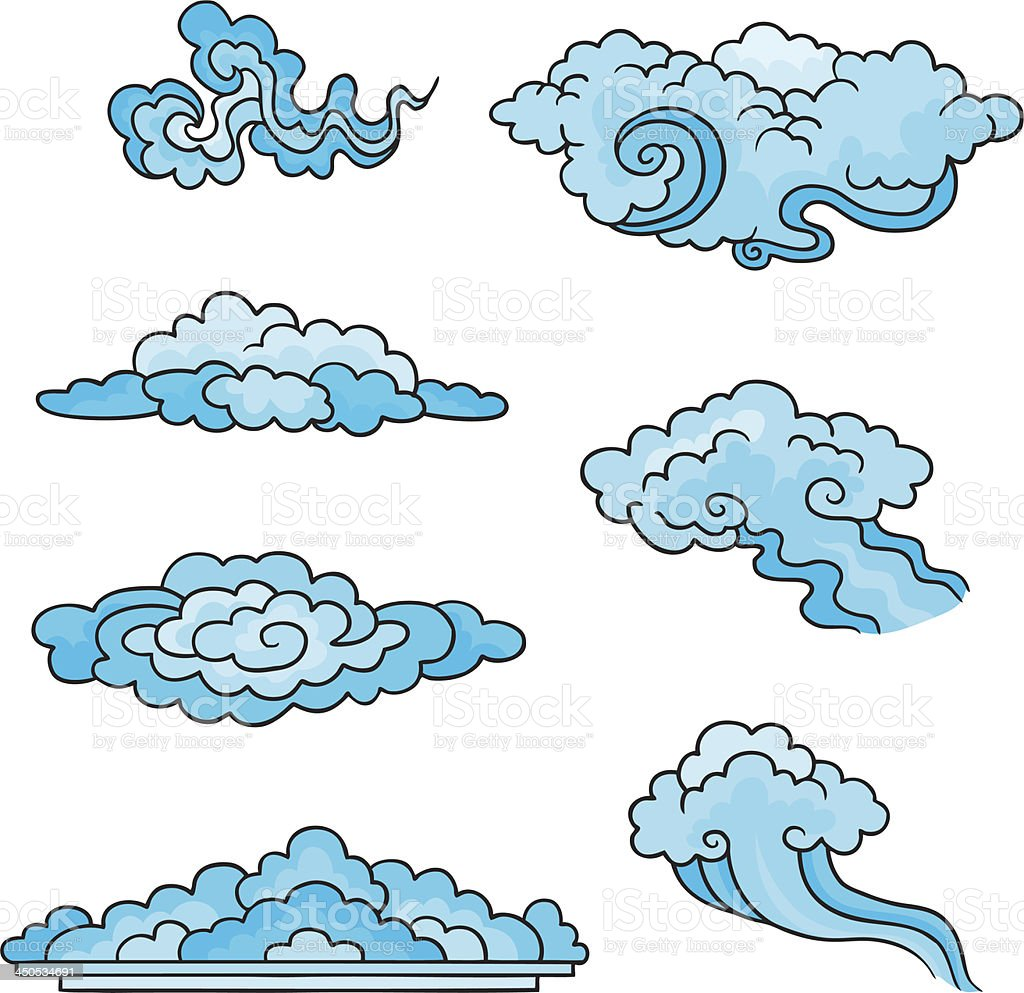 Decorative clouds. royalty-free stock vector art
