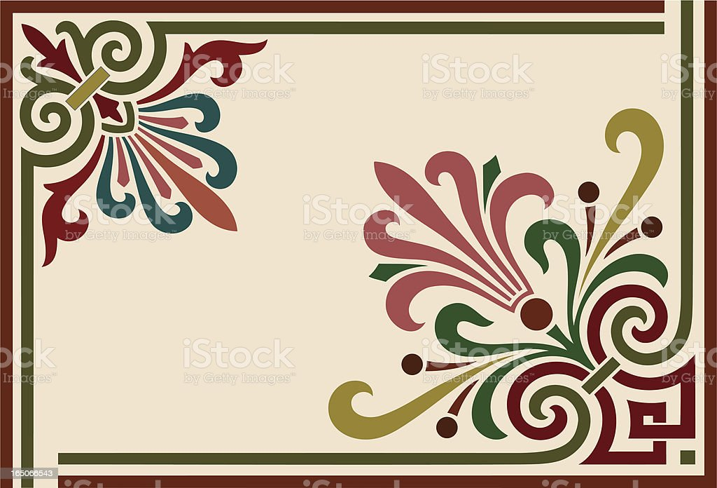 Decorative Corner Ornaments royalty-free stock vector art