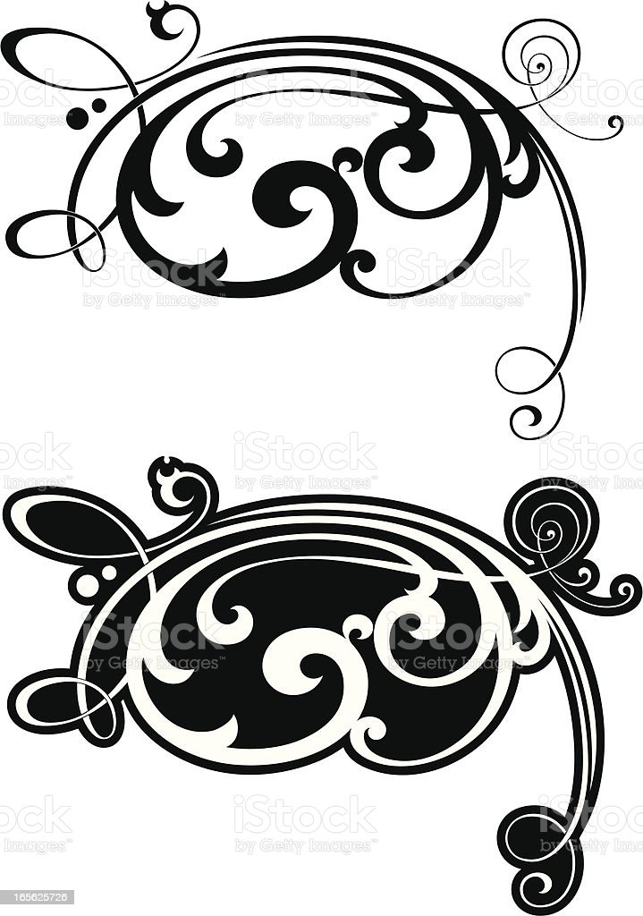 Decorative Corner Scroll royalty-free stock vector art