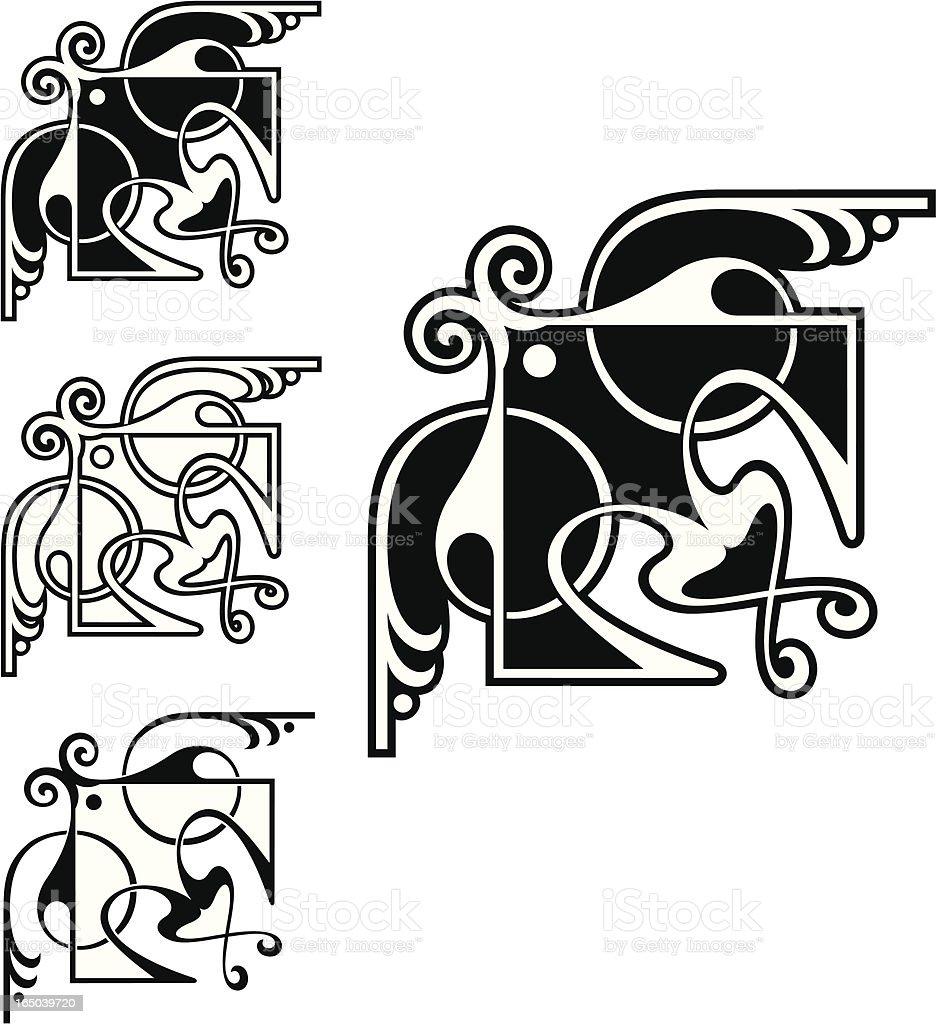 Decorative Corners royalty-free stock vector art